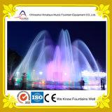 Fontana di acqua asciutta quadrata con il sistema di illuminazione sotterraneo