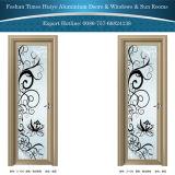 Aluminium eingehängte Türen für Innenbadezimmer-Dekoration mit Blumen