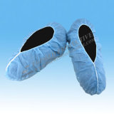 Cubierta quirúrgica/chanclos plásticos impermeables de la venda de elástico/higiénicos del zapato de CPE/PE en verde/azul