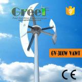turbina de vento vertical da linha central de 300W Vawt para a HOME