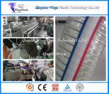 Línea reforzada espiral de la protuberancia del manguito del alambre de acero del PVC de la máquina plástica