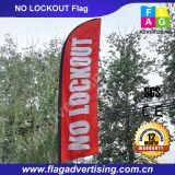 Dekorative Promotion Teardrop Banner Flagge mit Fiberglas Pole