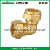 Le laiton de qualité a modifié le coude de palette de mur de compactage (AV70026)