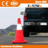 Cono piegante di plastica di sicurezza stradale dell'ABS rosso (RTC-45)