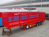8 Car Two Axle Double Tyre Car Carrier Semi - Trailer