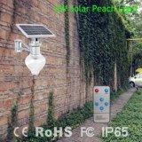 Lampe économiseuse d'énergie de jardin de rue solaire de DEL avec le détecteur de mouvement