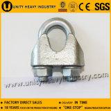Bride galvanisée jaune de câble métallique DIN1142 de dispositif de fixation