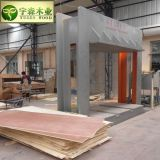中国の合板の工場