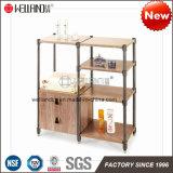 Muebles Acero-De madera del mini almacenaje de la cocina de la patente DIY con la tapa del MDF