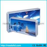 Коробка ткани кнопки алюминия цены по прейскуранту завода-изготовителя освещенная контржурным светом рамкой светлая
