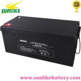 Batterie d'acide de plomb 12V200ah de cycle profond solaire pour le pouvoir d'UPS