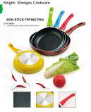 Сковорода покрынная ручкой алюминиевая Non-Stick для Cookware устанавливает Sx-Yt-A016