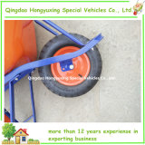 80L Steel Painted Tray Wheelbarrow com Square Pipe Frame (WB8001)