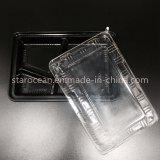 Поднос коробки торта пластичный упаковывая устранимое PS/BOPS для быстро-приготовленное питания