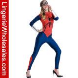 Costume di lusso del ragno di meraviglia delle donne della ragazza della tuta del partito sexy di Halloween