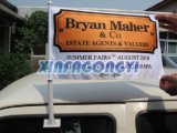 Kundenspezifische Größen-Auto-Markierungsfahnen, verdoppeln mit Seiten versehenes Auto-Markierungsfahnen