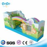 Bouncer inflável LG9006 do tema do arco-íris do projeto de Cocowater