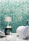 Patrón de mosaico de cristal de la pared del mosaico del diseño del fondo (HMP852)