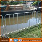 Barricadas de aço galvanizadas da construção/barreiras usadas do controle de multidão