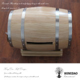 Hongdao Custom Wooden Personalized Pine Oak Paulownia Wine Barrel Mailbox_E
