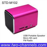 Altavoz portable del USB del altavoz del ángel de la música M102 con la ranura para tarjeta de radio de FM TF, mini caja de sonidos para el teléfono del ordenador portátil