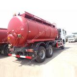 Aspirazione-Tipo camion di Sinotruck delle acque luride di aspirazione dell'autocisterna dell'organismo saprofago 6cbm-16cbm della fogna