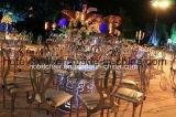 Chaise de mariage Infinity plaqué or aile d'ange en acier inoxydable