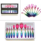 Cepillos del maquillaje del unicornio de la muestra libre del cepillo del maquillaje del color del arco iris