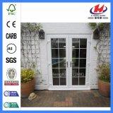 Portes en verre en bois internes de pli de Bi (Jhk-G28)