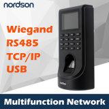 Посещаемость System&Time контроля допуска фингерпринта сети Fr-M2 с карточкой удостоверения личности