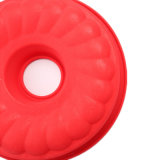 Molde de la torta del silicón del certificado del FDA, molde de la torta del silicón de la depresión de la dimensión de una variable redonda/molde del pudín