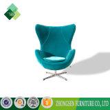 판매를 위한 밝은 파란색 직물 의자 Arne Jacobsen 계란 의자