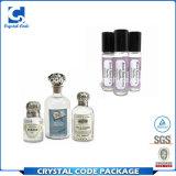 Escrituras de la etiqueta coloridas de moda de las etiquetas engomadas de la botella de perfume