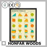 Ausbildungs-Klassenzimmer-Wand-Dekoration-Kunst-Farbanstrich mit hölzernem Rahmen
