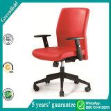 Roter lederner Büro-Stuhl