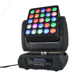 luces principales móviles de la matriz de 25*12W RGBW 4in1 LED para la etapa del acontecimiento de DJ del disco