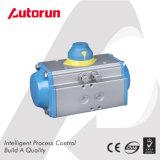 Actuador neumático temporario doble para las válvulas cuartas de la vuelta