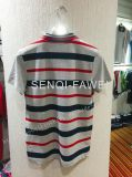 Red and Dark Blue Stripe Grey Homme Polo en loisirs Man Clothes Fw-8648