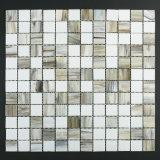 Gray White Edificio Mosaico de la baldosa del Vidrio Material de almacén