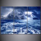 يطبع طقس مطر سماء سحابة طبيعة بحث [بينتينغ كنفس] [برينت رووم] زخرفة طبعة ملصقة صورة نوع خيش [مك-137]