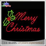 2017 Nueva luz de la letra de la Navidad del adorno de la decoración 2D de la Navidad