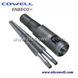 ABS. PP. PVC. PE Raw Material Cônico Twin Screw Barrel