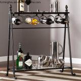 Античный стеллаж для выставки товаров металла для показа верхней части таблицы хранения вина