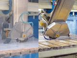 Cortadora automática de la piedra del puente del granito para procesar la tapa del contador y de la vanidad