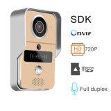 O Wi-Fi permitiu o Doorbell video, interfone do monitor da câmera da porta da segurança 720p Home com o receptor interno para Smartphones e tabuletas