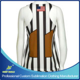 Reversible Jersey de la parte posterior de la raza del lacrosse de la muchacha por encargo de la sublimación