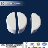 La mitad de alúmina Ceramc Cilindros (resistente al desgaste revestimiento de cerámica de alúmina)