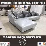 Sofá moderno Lz077 do couro do estilo da chegada nova