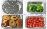 Aluminiumfolie-Behälter-Zeile für Ei-scharfe Pizza-Backen-Tellersegmente