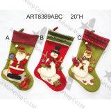 Чулки рождества снеговика Санта украшения рождества, 3asst-
